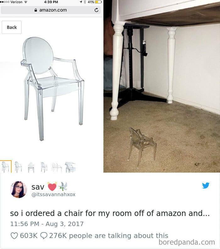 Bomkjøp, stol