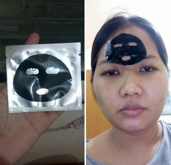 Bomkjøp, ansiktsmaske