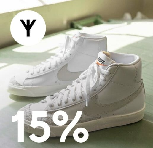 15% på nyheter og salgsvarer. deal image.