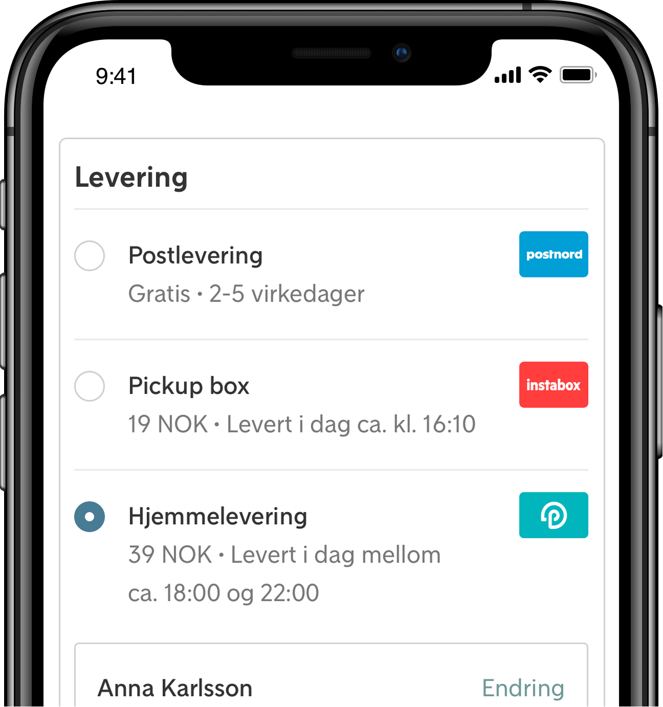 Klarna Shipping assistant