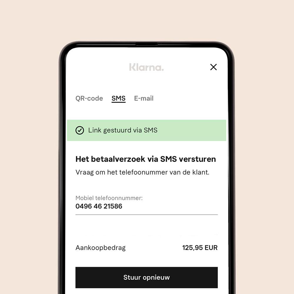 Point of sale mobiel scherm