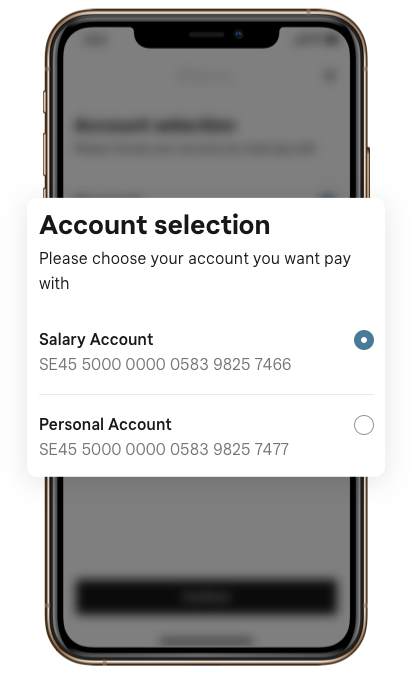 Open banking payment initiation