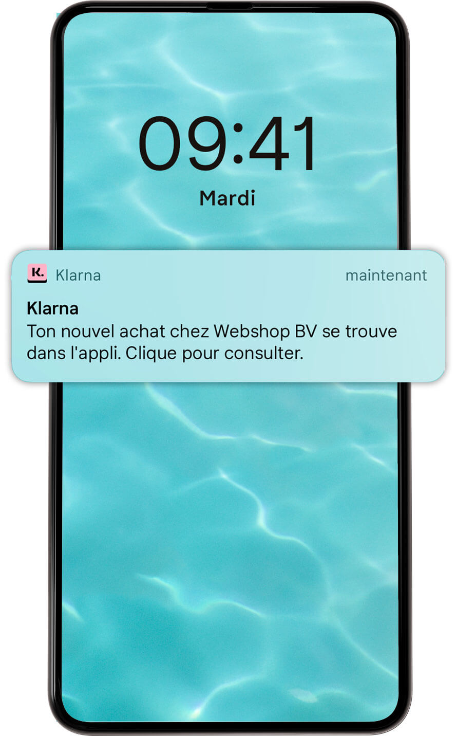 Notifications push écran mobile.