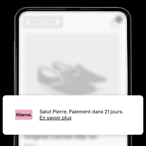 Messagerie sur site écran mobile.