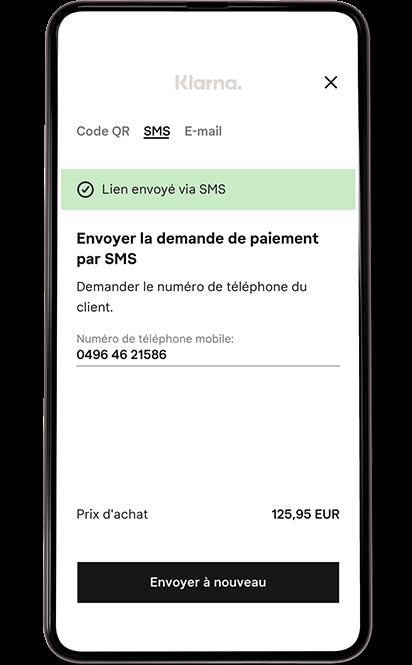 Écran mobile point de vente.