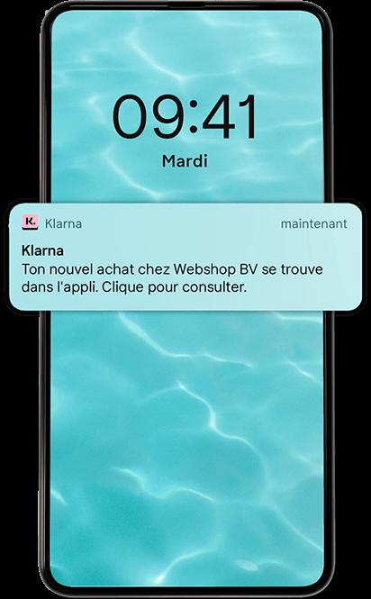 Écran mobile confirmation.