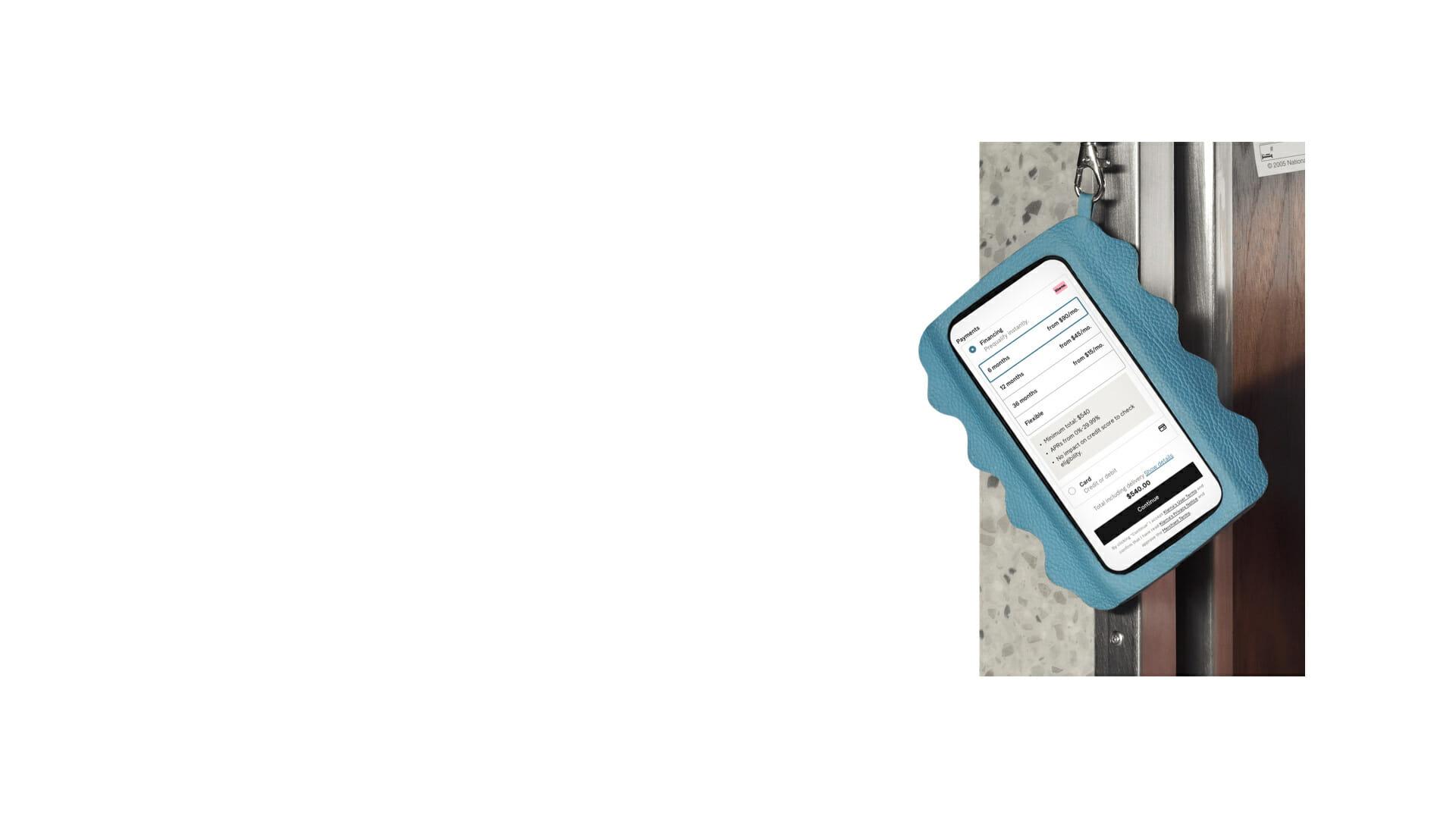 Mobile showing Klarna Financing options