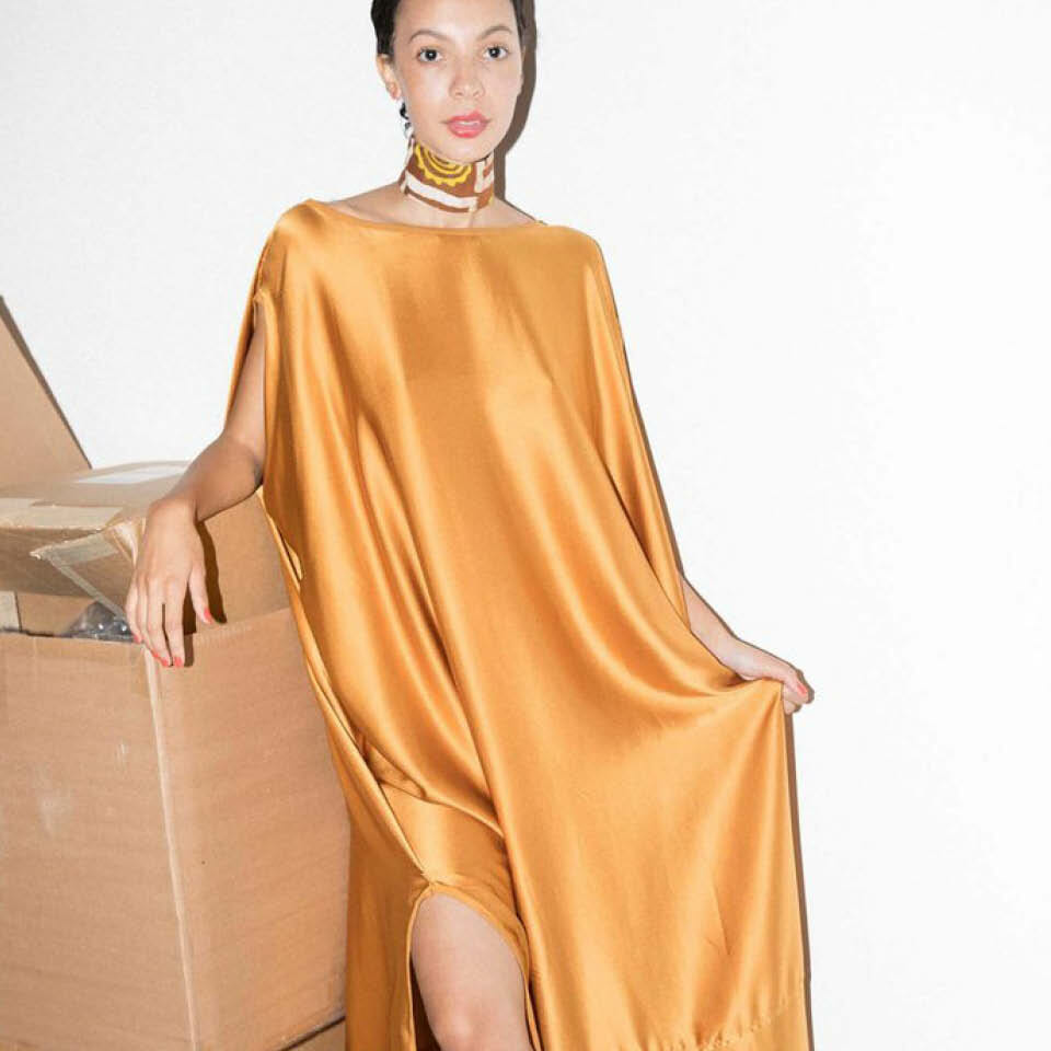 Gold Silk Caftan