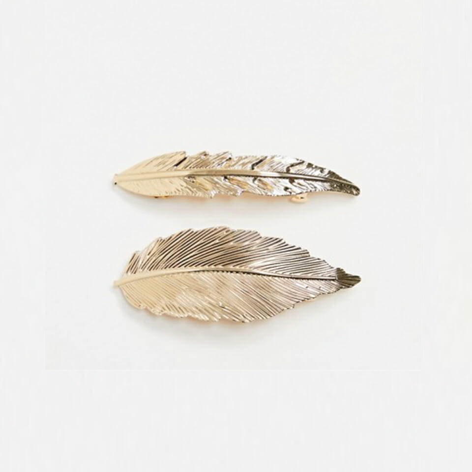 Gold Feather Hair Accessories