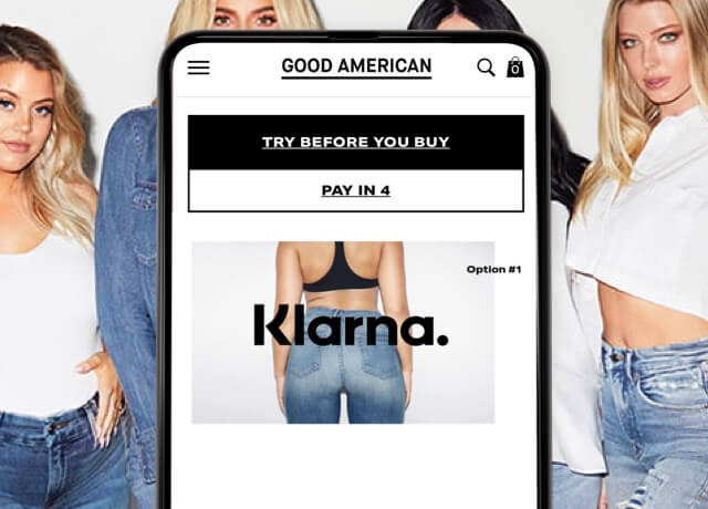 Klarna collaboration with Good American