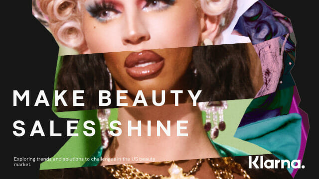 Make beauty sales shine white paper front page
