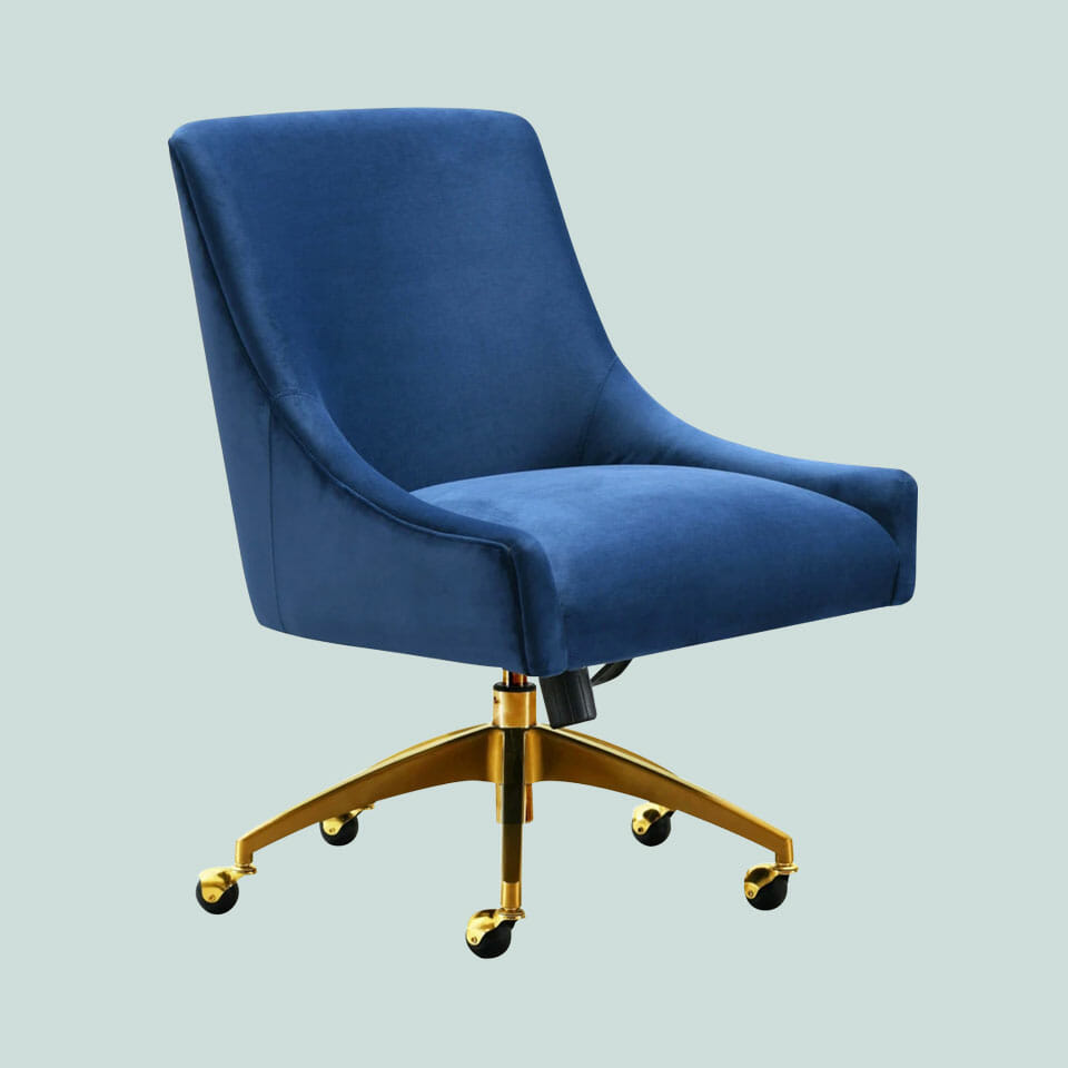 Beatrix Blue Swivel Chair