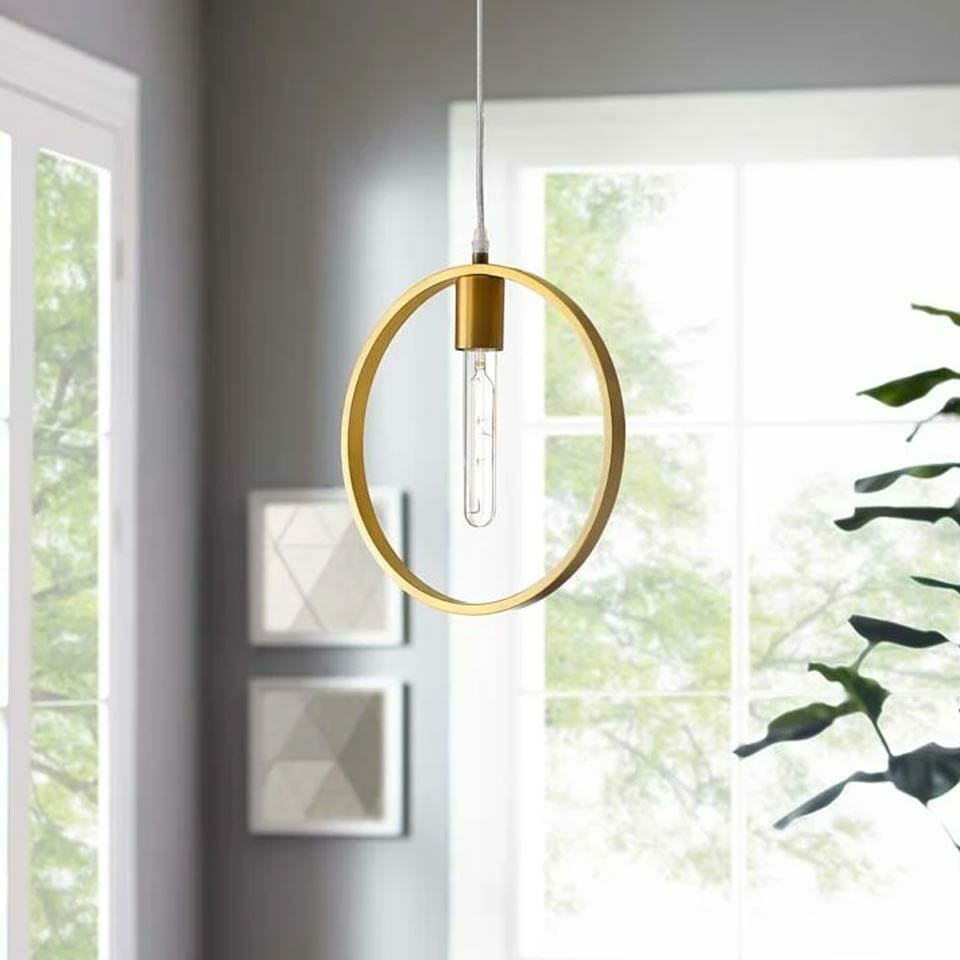 Ring Brass Ceiling Pendant