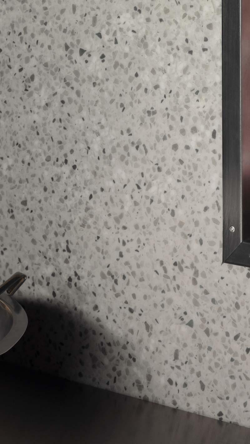 Smooth granite wall
