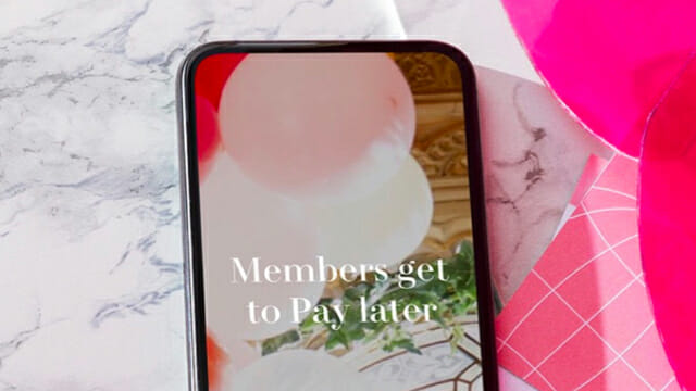 H&M x Klarna pay later app
