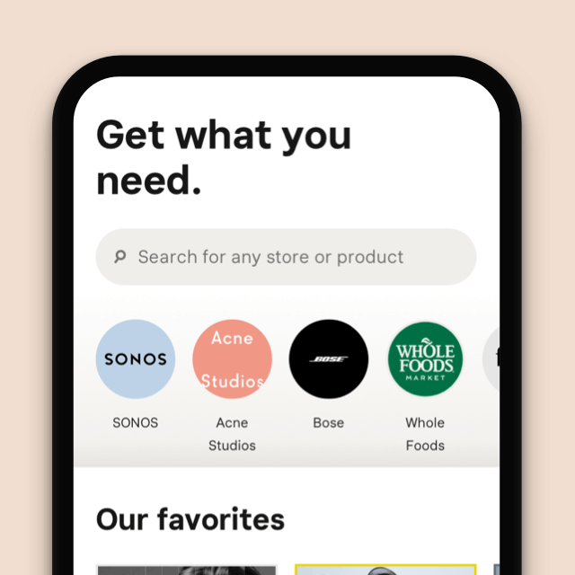 Elevate you shopping game mobile screen