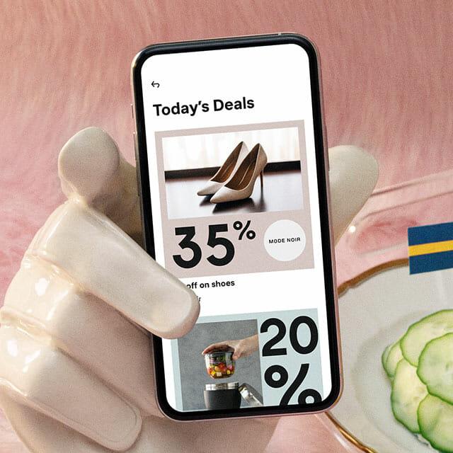 Deals in the Klarna app