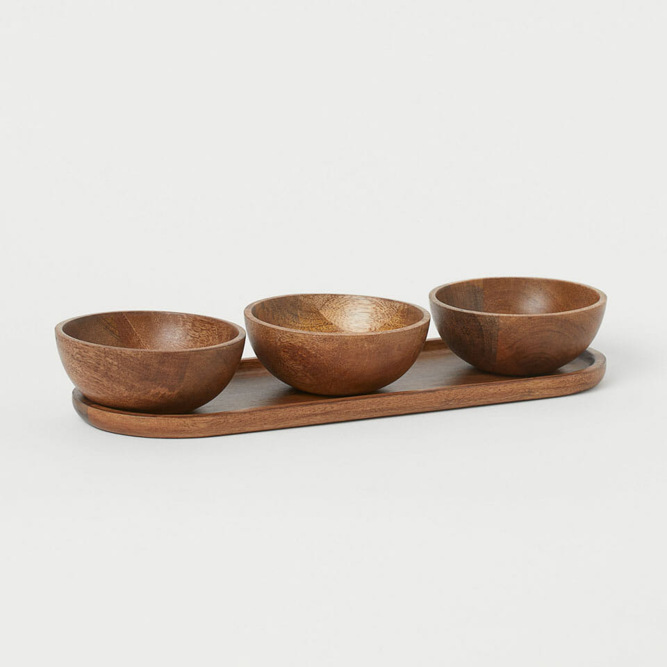 Wooden Bowls and Platter