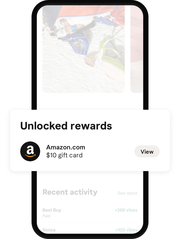 Welcome reward Amazon gift card