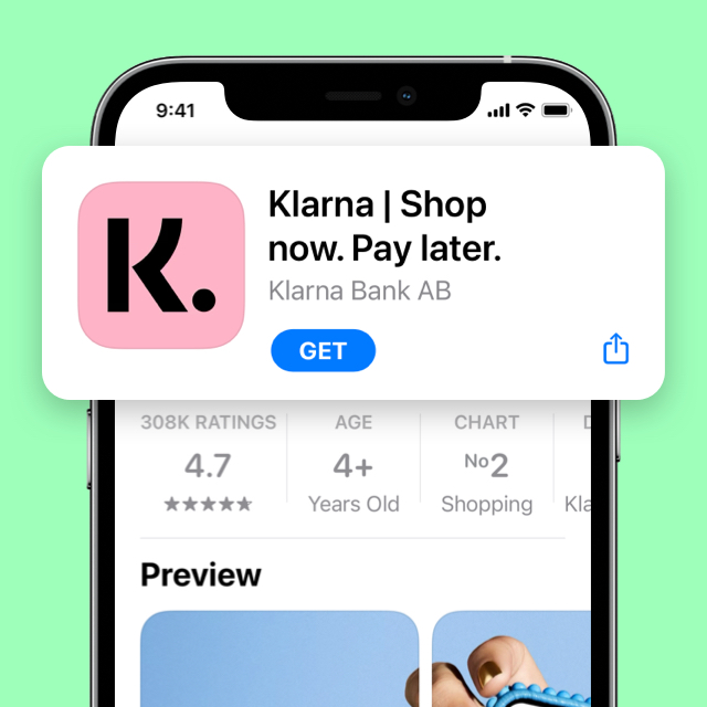 Sign up to Vibe in the Klarna app