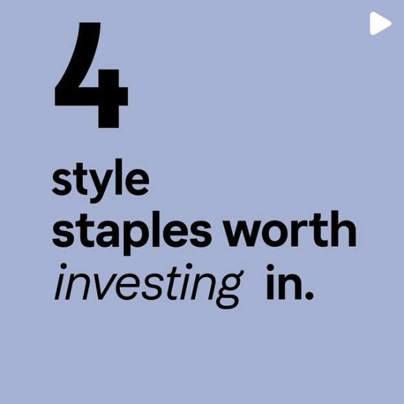 Style staples instagram post