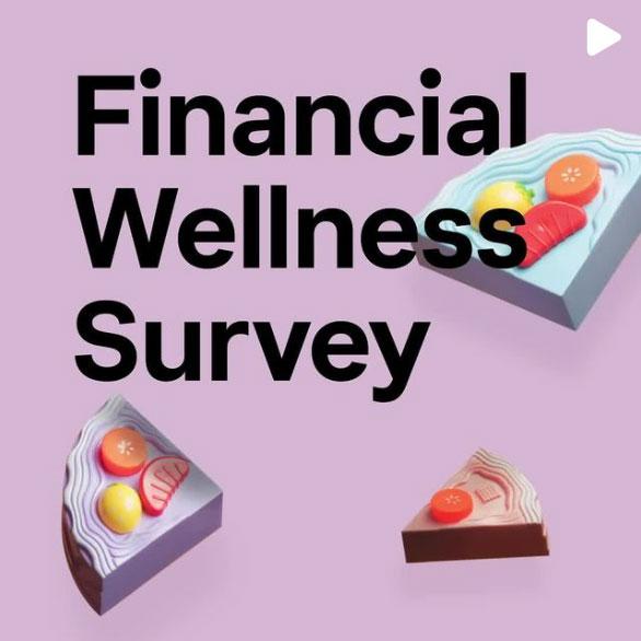 Financial wellness survey Instagram post