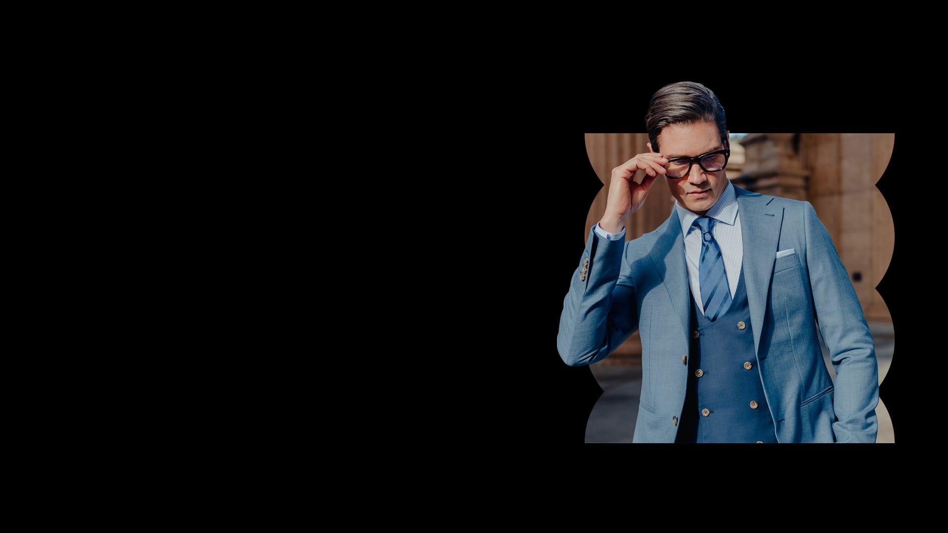 Man wearing INDOCHINO suit