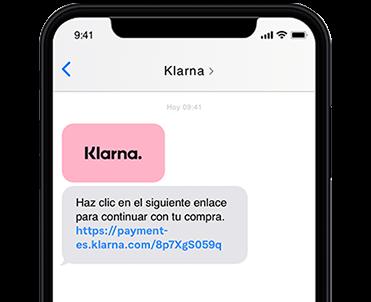 El enlace de pago a través de un mensaje de texto, e-mail o código QR