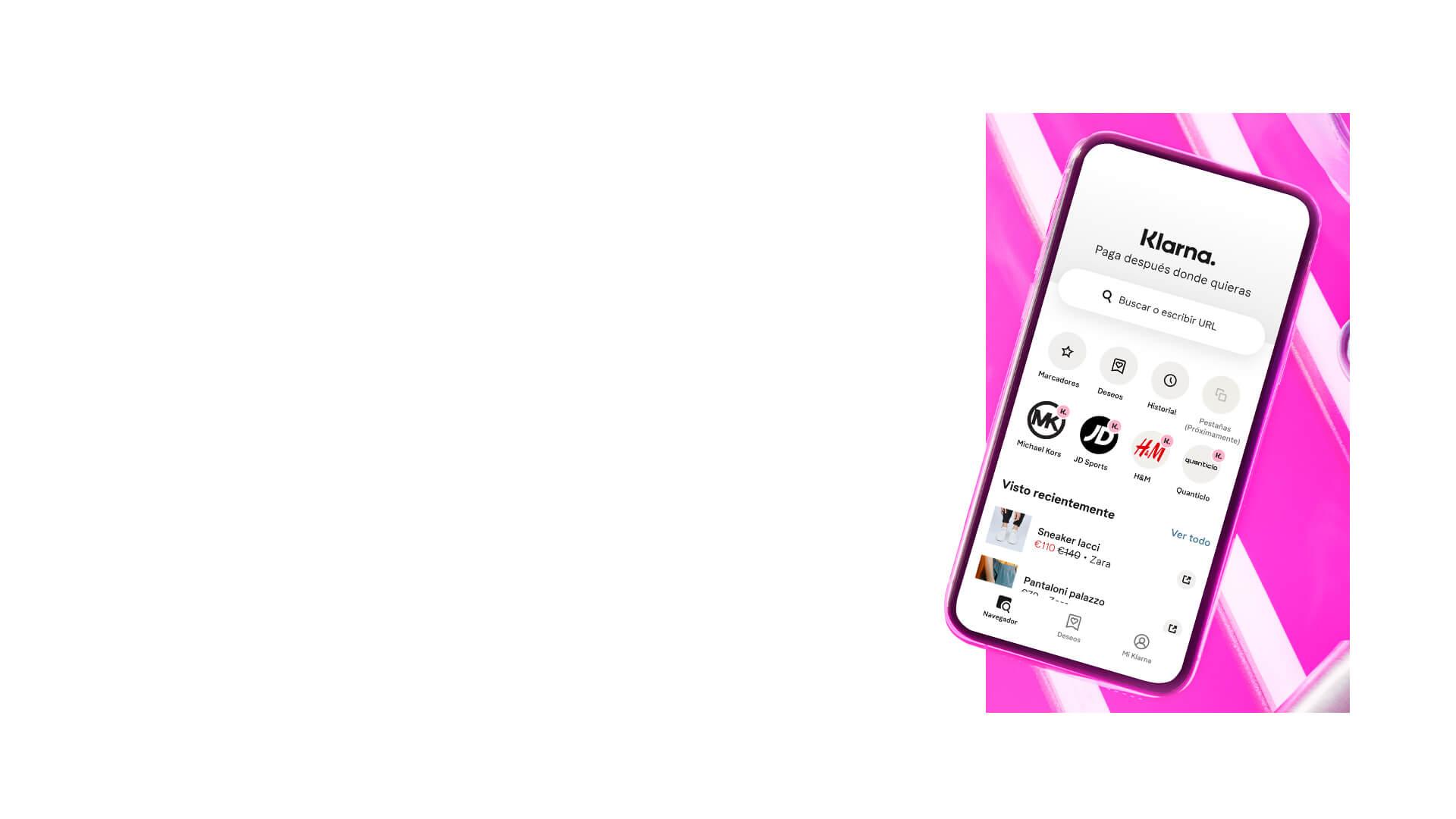 Klarna App Header