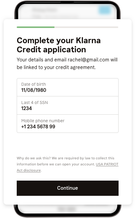 Smoooth credit application