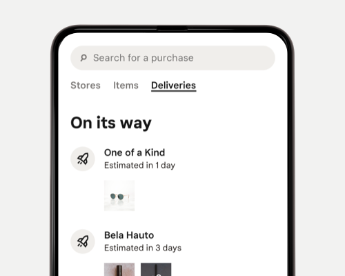 Track your deliveries