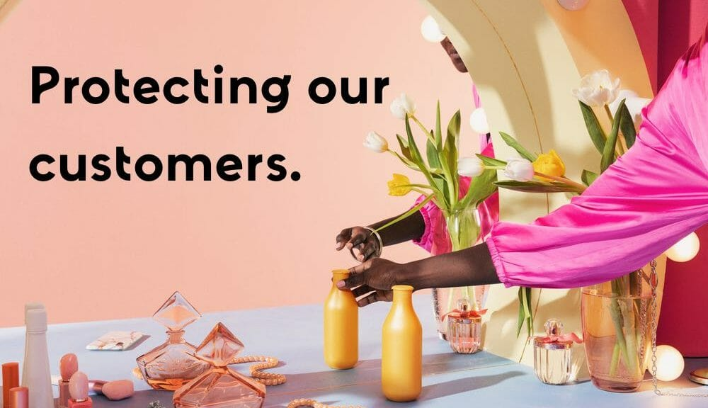 Protecting our customers header