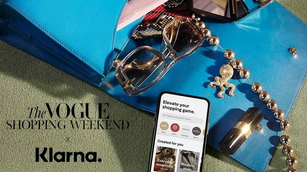Vogue x Klarna Shopping Weekend Website Header