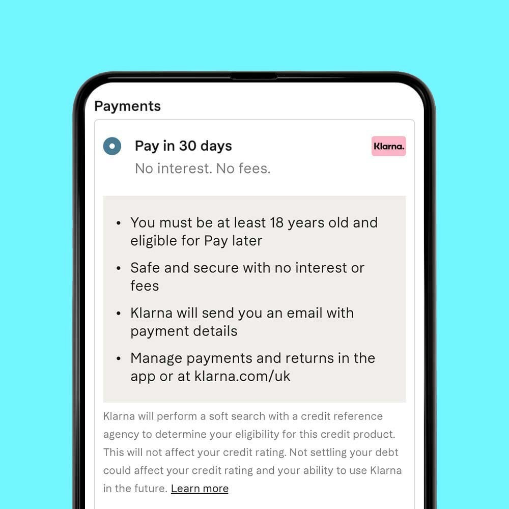 Pay in 30 days