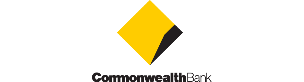 Yellow black Commonwealth bank logo