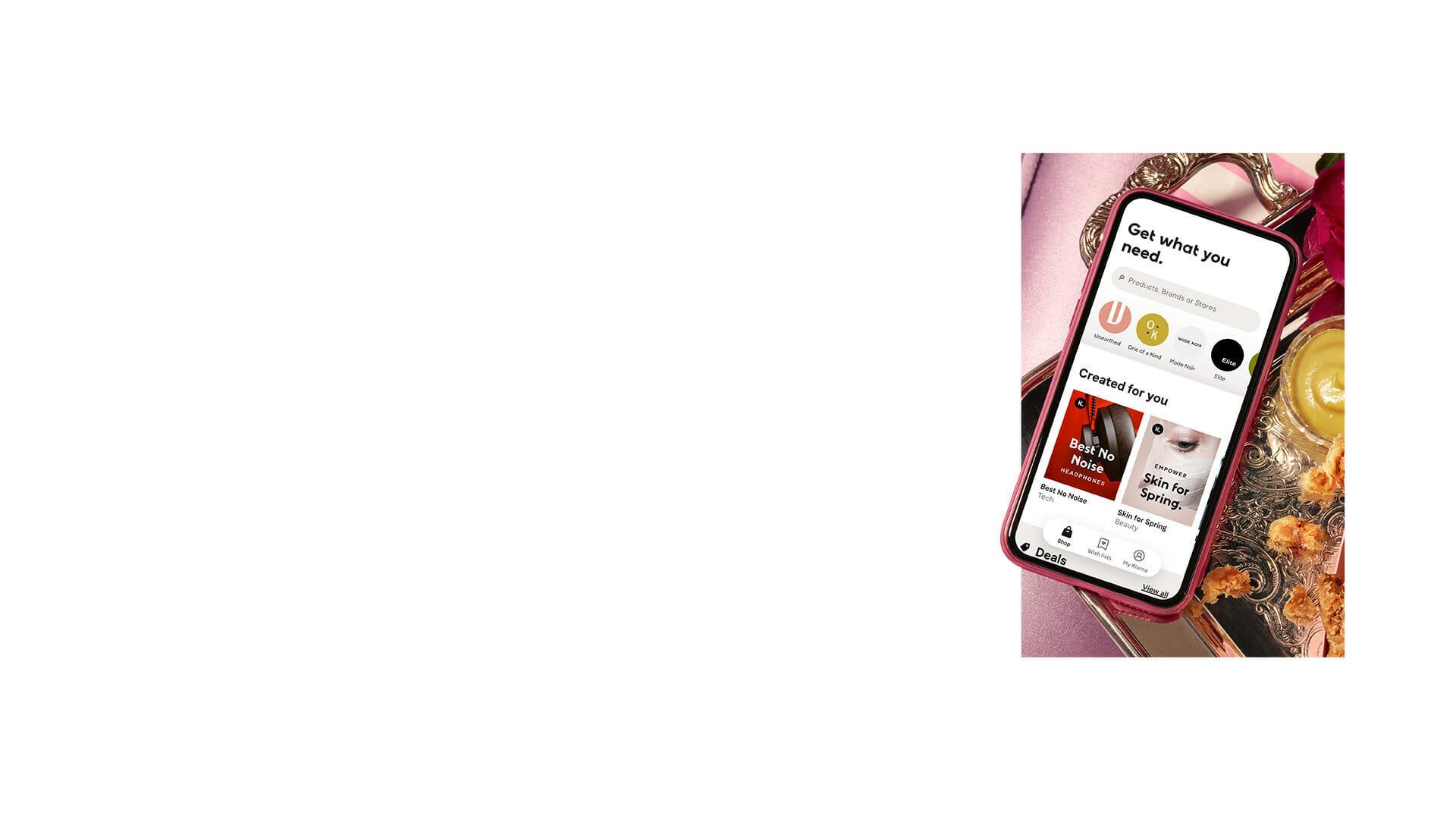 Download the Klarna app
