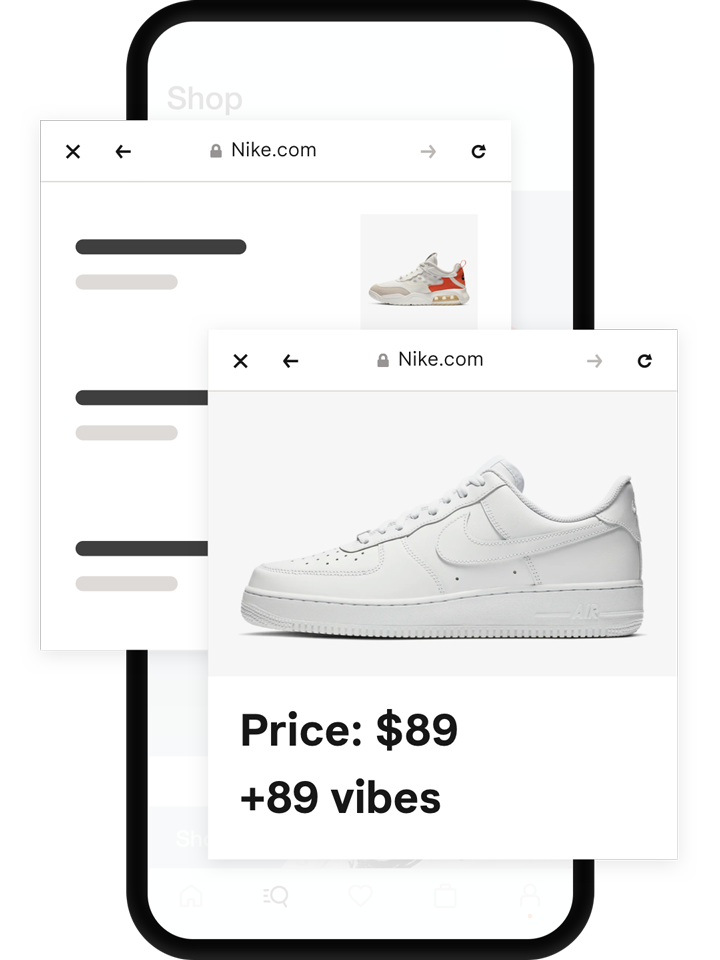 Earn vibes by shopping