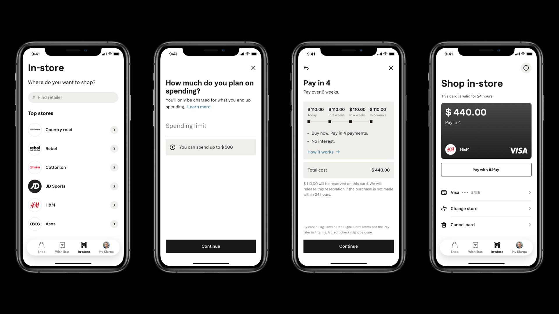 Digital card checkout flow - transparent