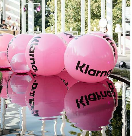 Floating pink balls