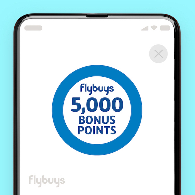 Flybuys screen