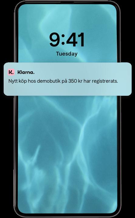 Klarna Betala senare - vid leverans mobilskärm