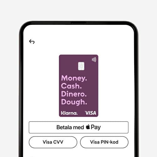 Klarnkortet betala med Apple Pay