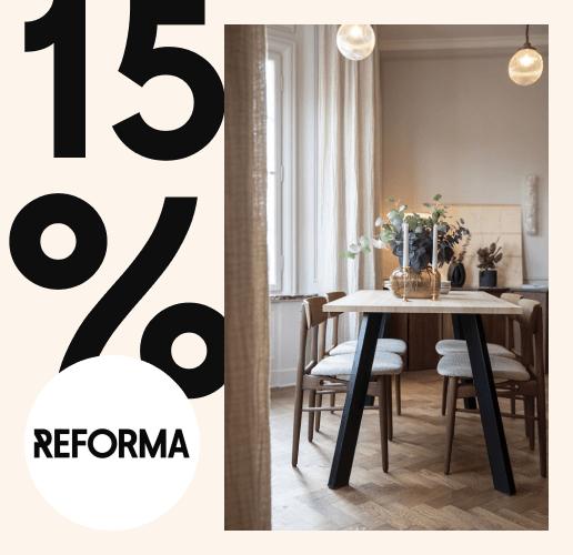 15% på Reforma Responsible-serien deal image.