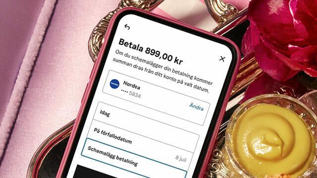 Klarna appen - det bästa sättet att betala mobilskärm