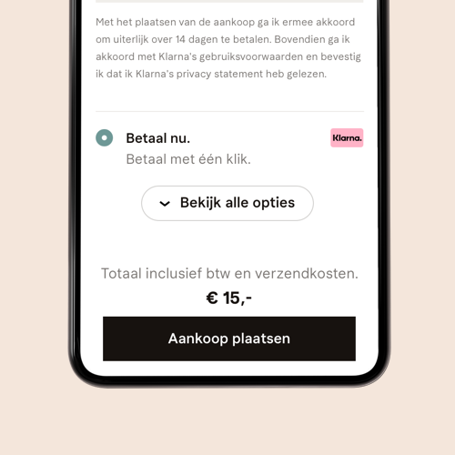 App pay later with Klarna