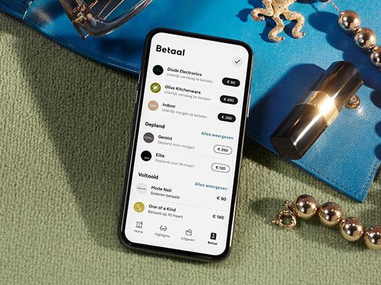 Klarna App mobiel scherm