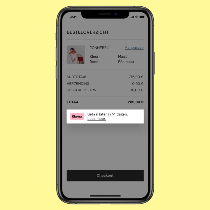 Winkelmandje On-site Messaging