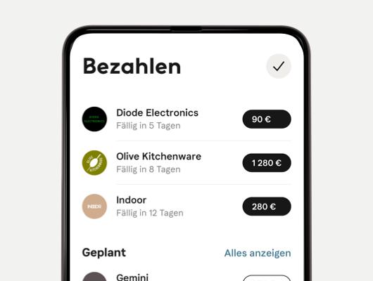 Übersicht Bestellungen in der App