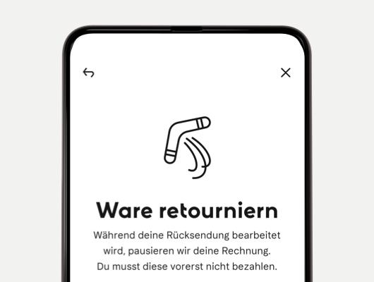 Retourenfunktion in der Klarna App