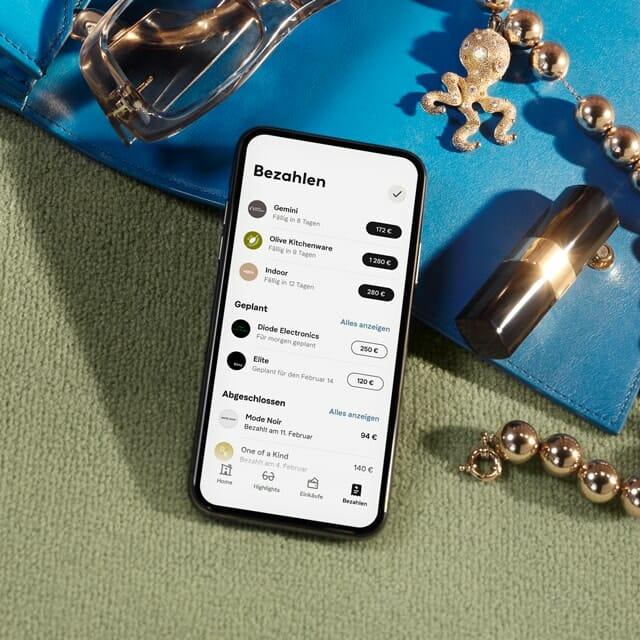 Klarna App Übersicht aller Bestellungen